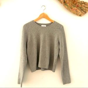 & Other Stories gray boucle sweater — large